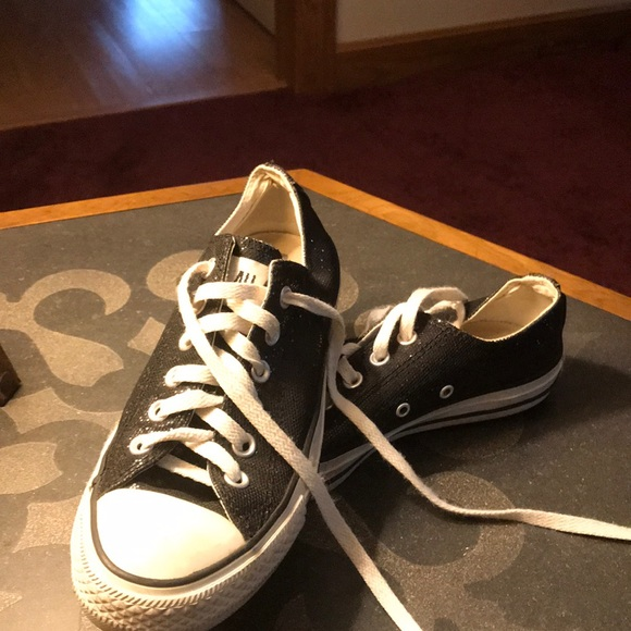 Converse Shoes   Black Sparkly   Poshmark